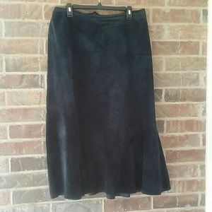 Chico's black leather flirty skirt size Chico's 3